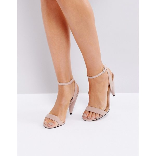"""ASOS HUSH Barely There Heeled Sandals - """"""""Heels by ASOS Collection, Textile upper, Ankle-strap..."""