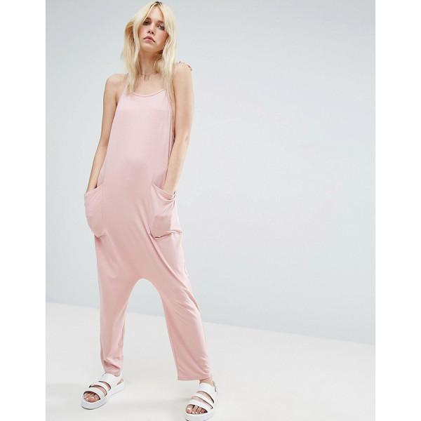 ASOS Jersey Minimal Jumpsuit with Ties - Jumpsuit by ASOS Collection, Soft-touch jersey, Scoop neck,...