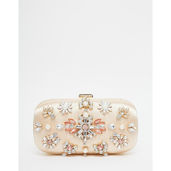 ASOS Jewelled box clutch bag - Clutch bag by ASOS Collection Satin outer Hard case design...