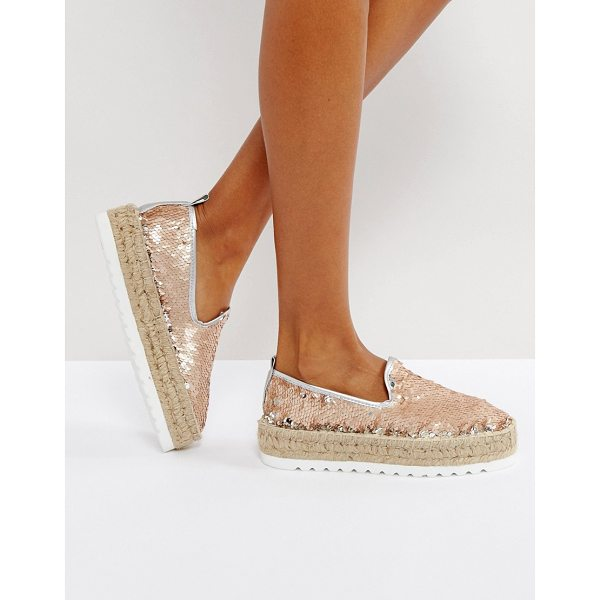 ASOS JOCKEY PREMIUM Sequin Chunky Espadrilles - Espadrilles by ASOS Collection, Sequinned upper, Slip-on...