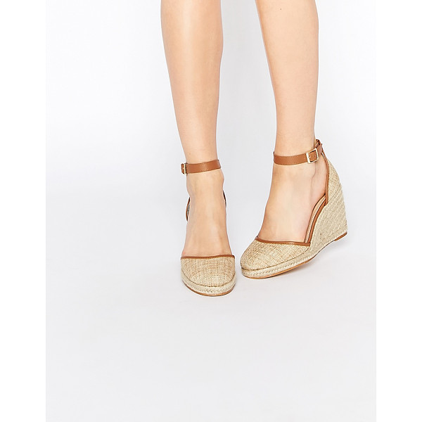 ASOS JUICY Wedge Sandals - Wedges by ASOS Collection, Canvas upper, Almond toe, Pin...