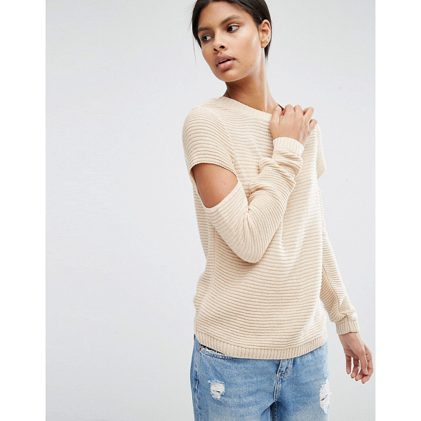 ASOS Sweater - Sweater by ASOS Collection, Ribbed chunky knit, Crew...
