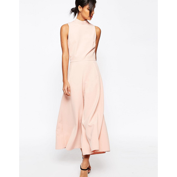 ASOS Jumpsuit with culotte leg and high neck - Jumpsuit by ASOS Collection Woven stretch fabric High...