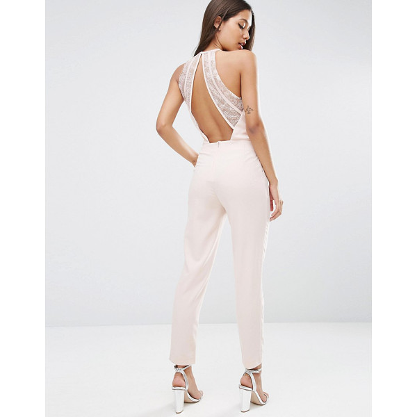 "ASOS Jumpsuit with Lace Back Detail - """"Jumpsuit by ASOS Collection, Stretch woven fabric, Square..."