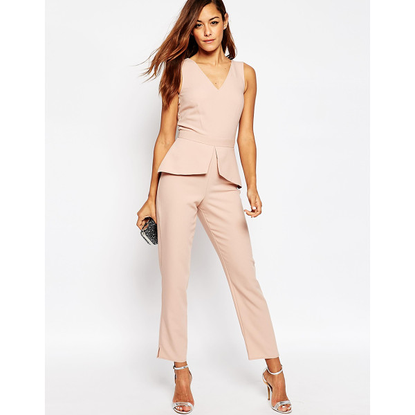 ASOS Jumpsuit With Peplum Detail - Jumpsuit by ASOS Collection, Smooth woven fabric, V-neck,...