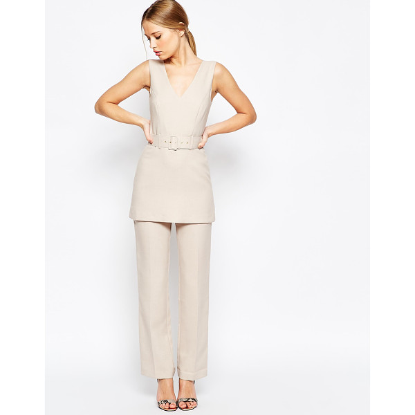 ASOS Jumpsuit with Tunic Detail - Romper by ASOS Collection, Structured woven fabric,...