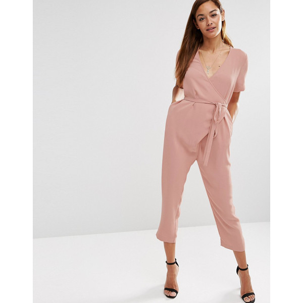 ASOS Jumpsuit with Wrap And Self Tie - Jumpsuit by ASOS Collection, Lightweight woven fabric,...