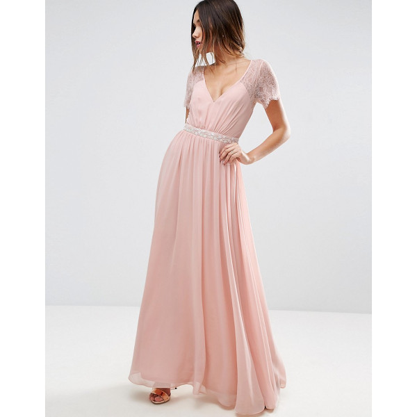 ASOS Kate Lace Embellished Trim Maxi Dress - Maxi dress by ASOS Collection, Woven fabric, Lace...