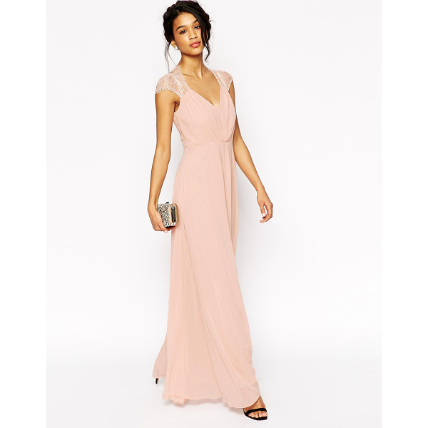 ASOS Kate Lace Maxi Dress - Dress by ASOS Collection, Mid-weight lined chiffon, Lace...