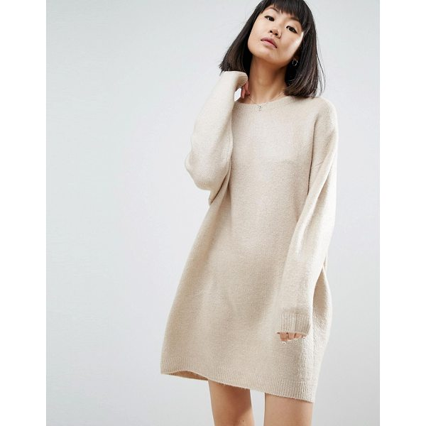 "ASOS Knitted Dress with Crew Neck in Fluffy Yarn - """"Dress by ASOS Collection, Soft-touch knit, Fluffy finish,..."