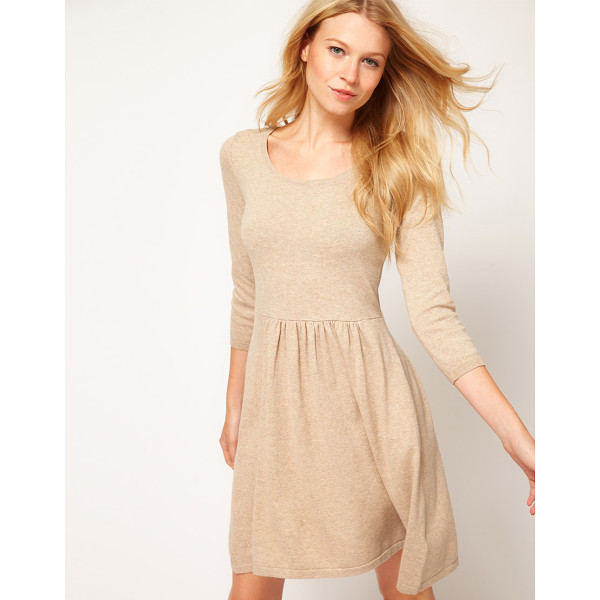 ASOS Knitted dress with zip back - This dress by ASOS Collection has been crafted from a soft...