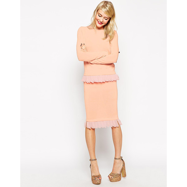 ASOS Knitted skirt with petal trim - Pencil skirt by ASOS Collection Lightweight, knitted fabric...