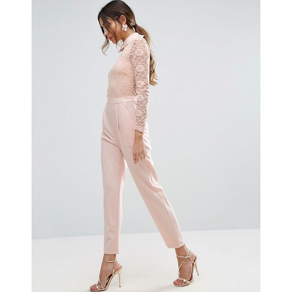 "ASOS Lace Collar Jumpsuit - """"Jumpsuit by ASOS Collection, Lined lace top, Sheer back..."
