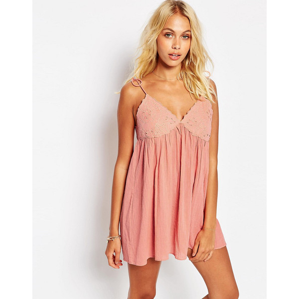 ASOS Lace cup babydoll beach dress - Babydoll d ress by ASOS Collection Lightweight cotton...