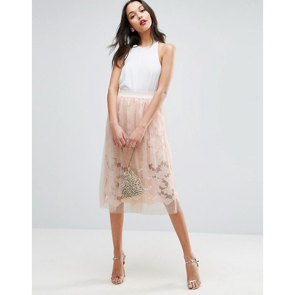 """ASOS Lace Prom Skirt with Tulle Overlay - """"""""Skirt by ASOS Collection, Layered mesh and lace,..."""