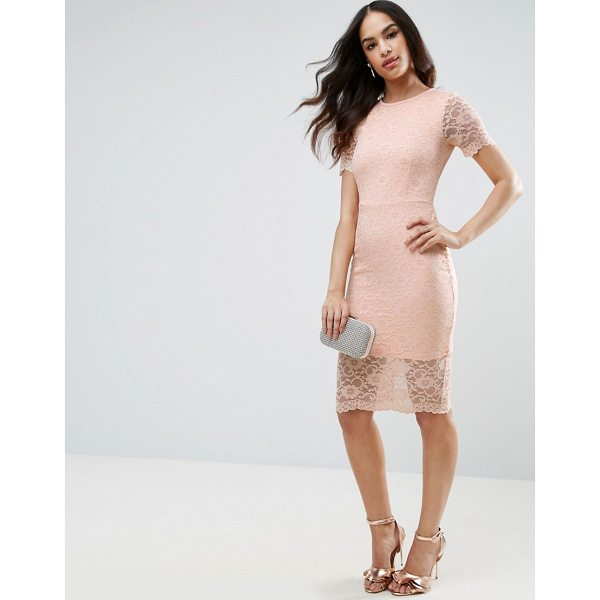 """ASOS Lace Scallop T-Shirt Midi Bodycon Dress - """"""""Midi dress by ASOS Collection, Lightweight lace,..."""