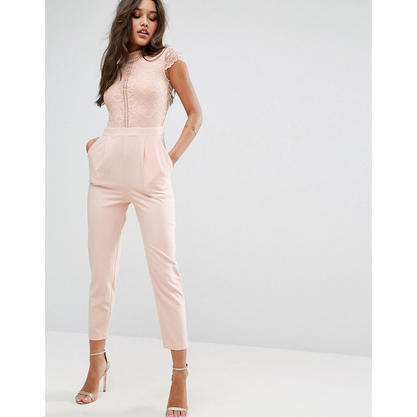 ASOS Lace Top Jumpsuit - Jumpsuit by ASOS Collection, Lined woven fabric, Lace top,...
