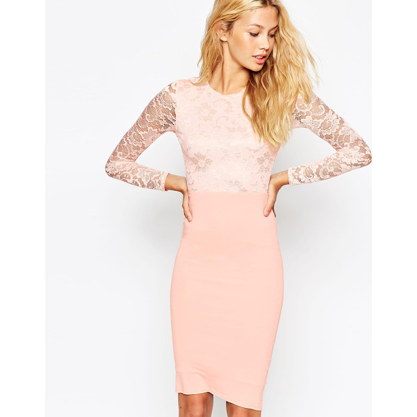 ASOS Lace top midi pencil dress - Evening dress by ASOS Collection Lace top Bodice lining to...