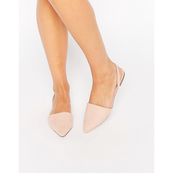 ASOS Lainey pointed sling back ballet flats - Flat shoes by ASOS Collection, Leather-look upper, Stretch...