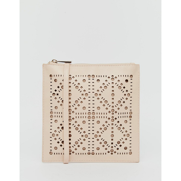 ASOS Laser Cut Cross Body Bag - Cart by ASOS Collection, Faux leather outer, Laser-cut...