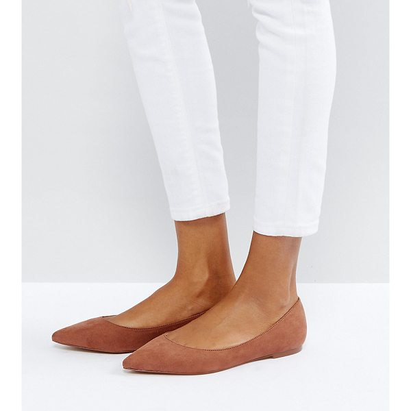 ASOS LATCH Pointed Ballet Flats - Flat shoes by ASOS Collection, Textile upper, Slip-on...