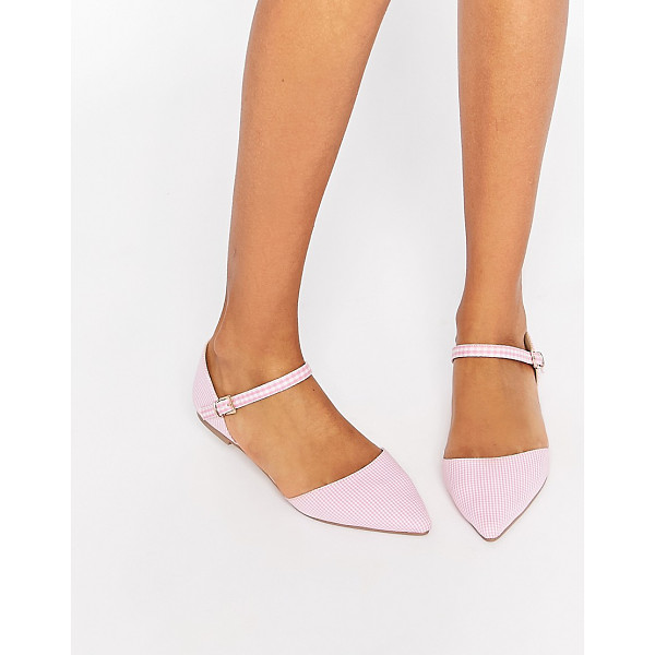 ASOS LATE NIGHT Pointed Ballet Flats - Ballet pumps by ASOS Collection, Gingham-check upper, Point