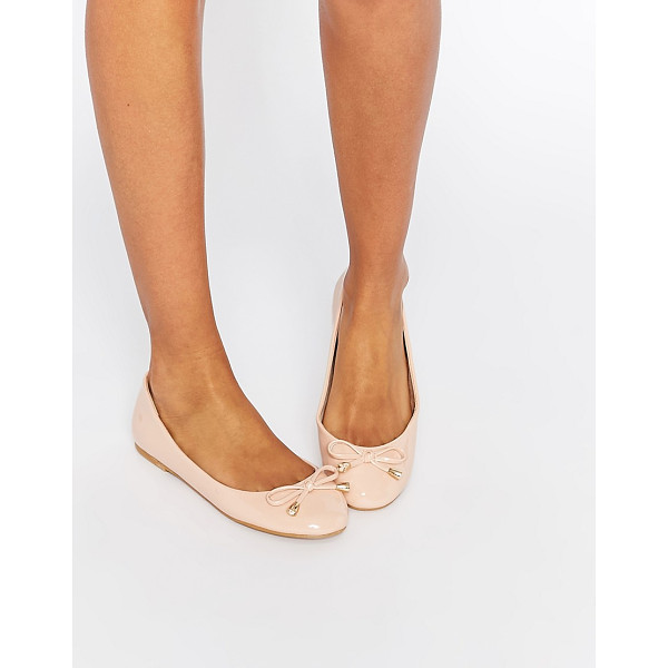 ASOS LEADER Ballet Flats - Ballet pumps by ASOS Collection, Faux leather upper, Patent...