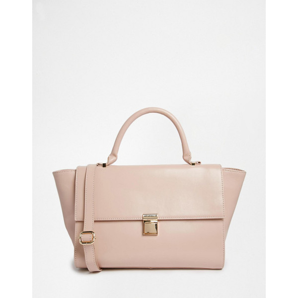 "ASOS Leather Top Handle Bag - """"Bag by ASOS Collection, Real leather outer, Contrast..."