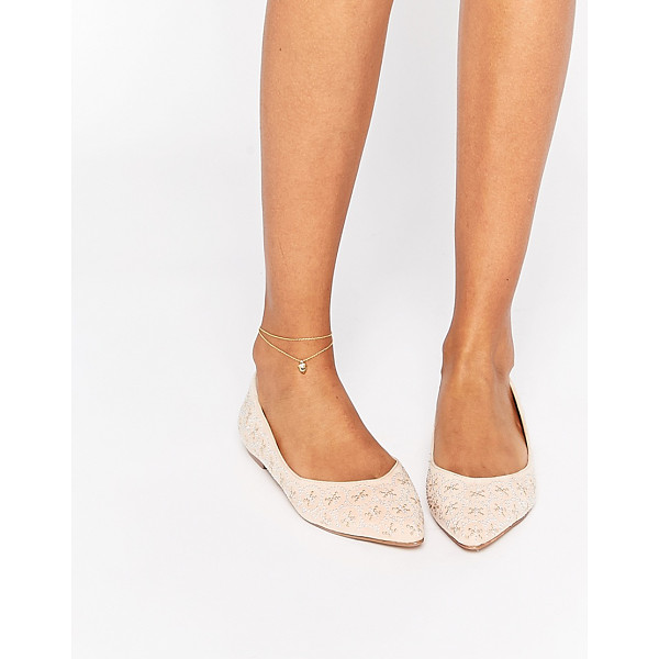 ASOS LEYTON Embellished Pointed Ballet Flats - Ballet pumps by ASOS Collection, Textile upper, All-over...