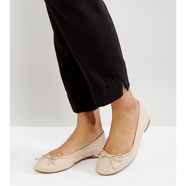 ASOS LIFESAVER Leather Ballet Flats - Flat shoes by ASOS Collection, Leather upper, Slip-on...