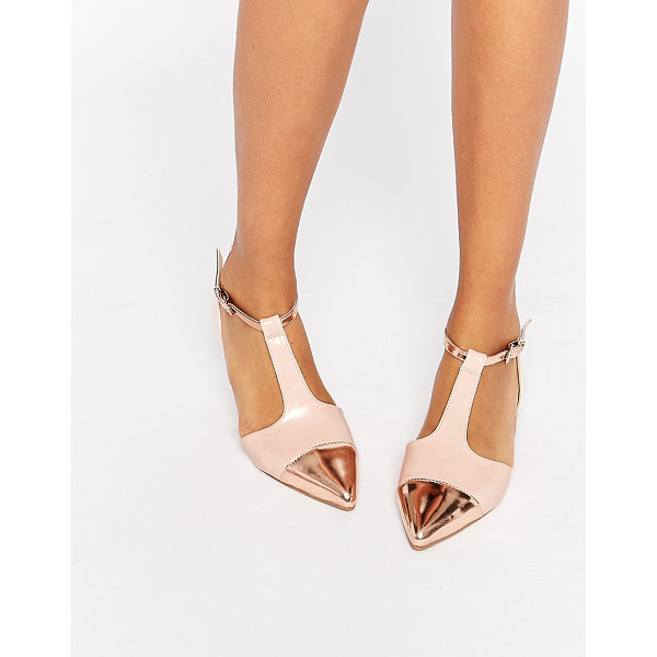 ASOS LINGO Pointed Ballet Flats - Ballet pumps by ASOS Collection, Leather-look upper, Patent...