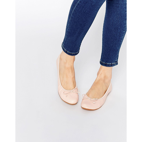 ASOS LOGO Elasticated Ballet Flats - Ballet pumps by ASOS Collection, Leather-look upper,...