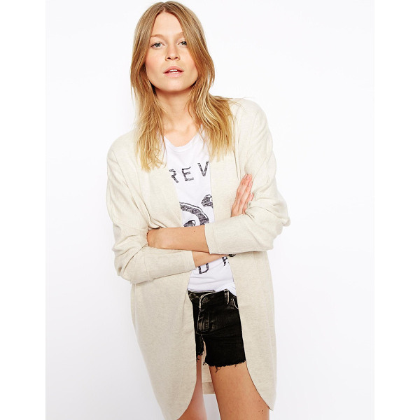 ASOS Longline cardigan in cocoon shape - Cardigan by ASOS Collection Made from 100% pure cotton Fine...