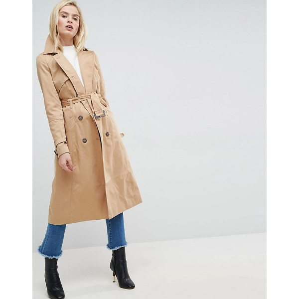 ASOS Longline Classic Trench Coat - Coat by ASOS Collection, Smooth woven fabric, Fully lined,...