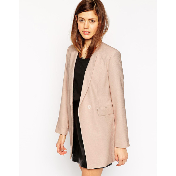 ASOS Longline textured suit blazer - Blazer by ASOS Collection Lightweight textured fabric Inner...