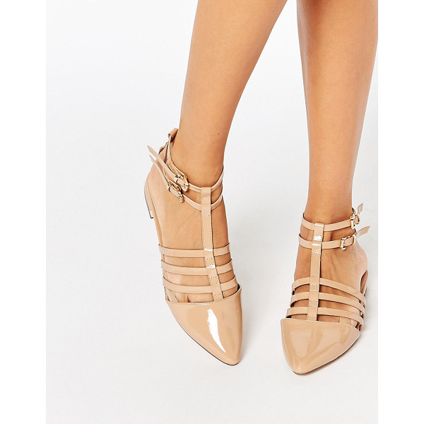 ASOS LOS ANGELES Pointed Caged Ballet Flats - Flat shoes by ASOS Collection, Patent faux leather upper,...