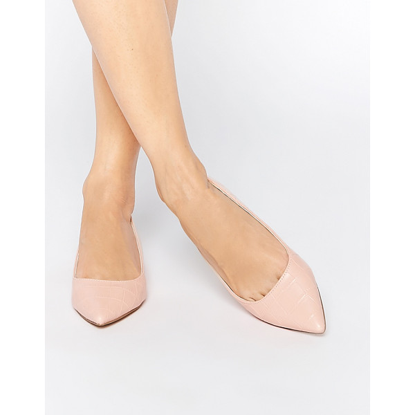 ASOS LOST Pointed Ballet Flats - Ballet pumps by ASOS Collection, Faux leather upper, Mock...