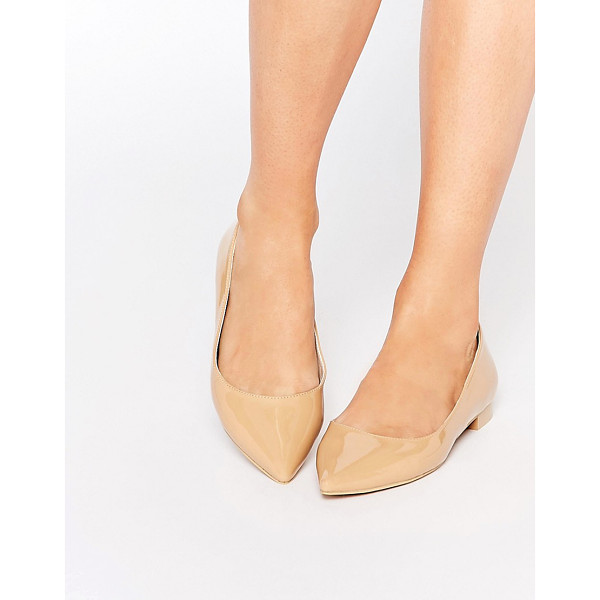 ASOS Lost pointed ballet flats - Flat shoes by ASOS Collection Leather-look upper Glossy...