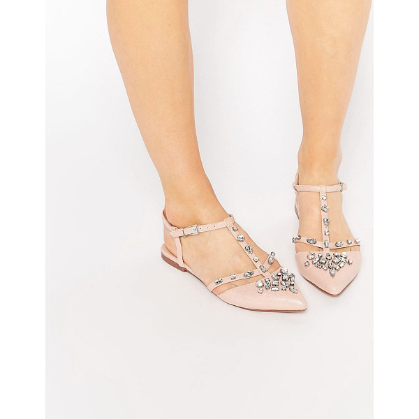 ASOS LOTUS Embellished Pointed Ballet Flats - Flat shoes by ASOS Collection, Faux-leather upper, Metallic...