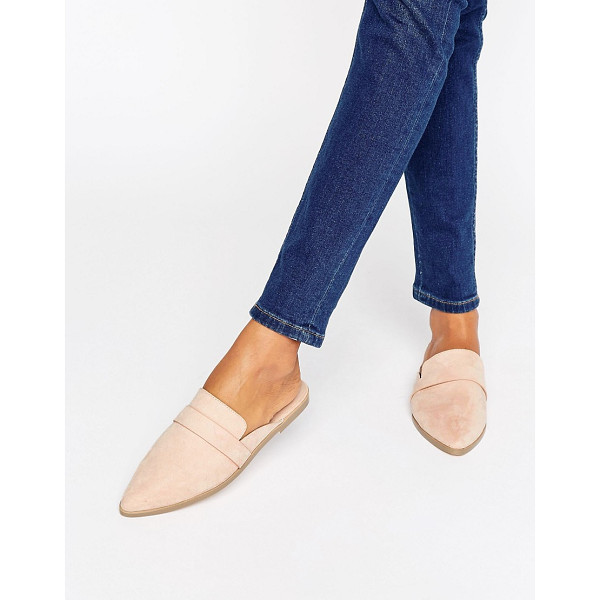 ASOS MAGGIE Flat Mules - Flat shoes by ASOS Collection, Faux-suede upper, Slip-on...