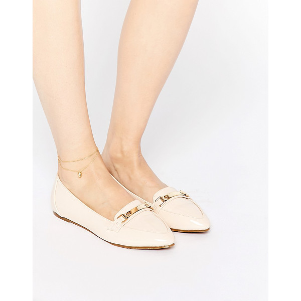 ASOS Make a hit pointed flat shoes - Shoes by ASOS Collection, Patent leather look upper, T-bar...