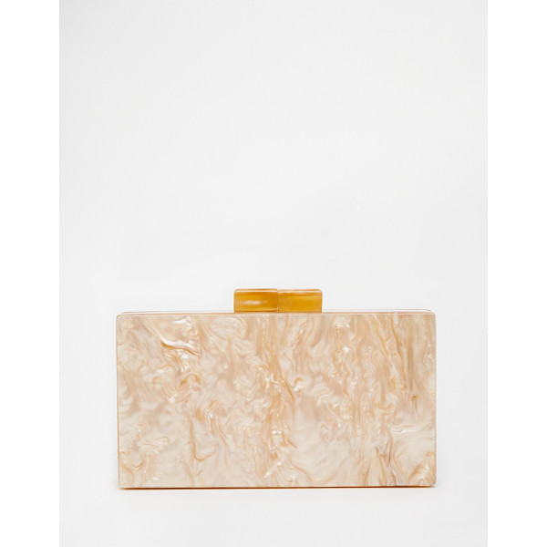 ASOS Marble Box Clutch Bag - Clutch bag by ASOS Collection, Marble effect outer, Hard...
