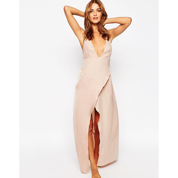 ASOS Matte & Shine Maxi Slip - Slip dress by ASOS Collection, Soft-touch woven fabric,...