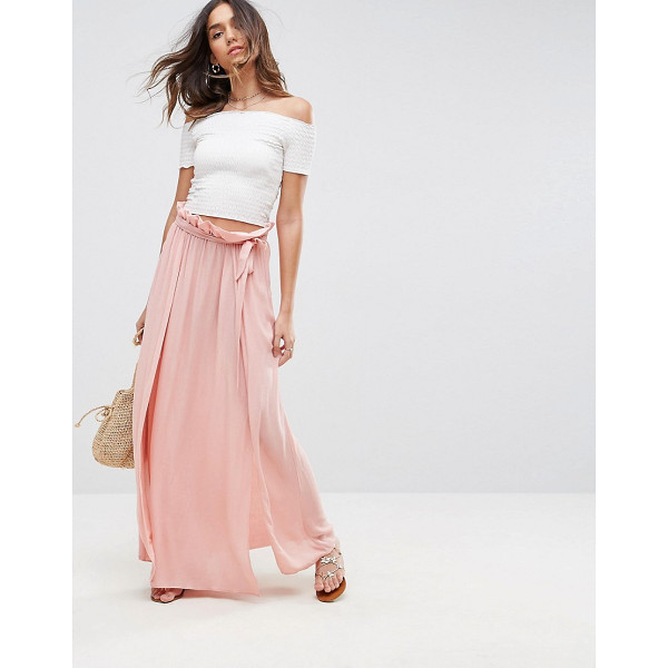 "ASOS Maxi Skirt with Belt and Thigh Split - """"Maxi skirt by ASOS Collection, Lightweight woven fabric,..."