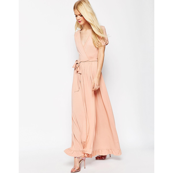 ASOS Maxi Tea Dress With Wrap Front - Maxi dress by ASOS Collection, Soft-touch stretch fabric,...