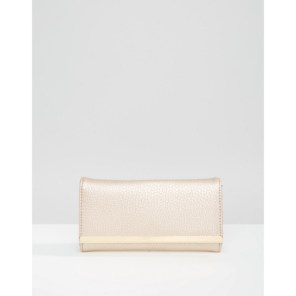 ASOS Metal bar detail purse - Wallet by ASOS Collection Faux leather outer Fold-over flap...