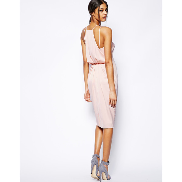 ASOS Midi dress with drape back pencil - Midi dress by ASOS Collection Made from an easy-care, woven...