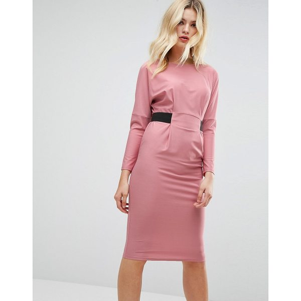 "ASOS Midi Dress With Elastic Waist Detail - """"Dress by ASOS Collection, Lightly-textured stretch..."