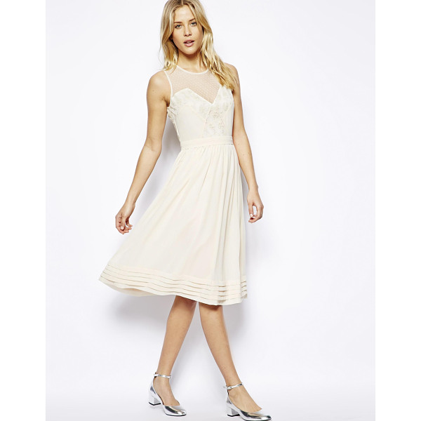 ASOS Midi dress with lace inserts - Midi dress by ASOS Collection Made from a breathable woven...