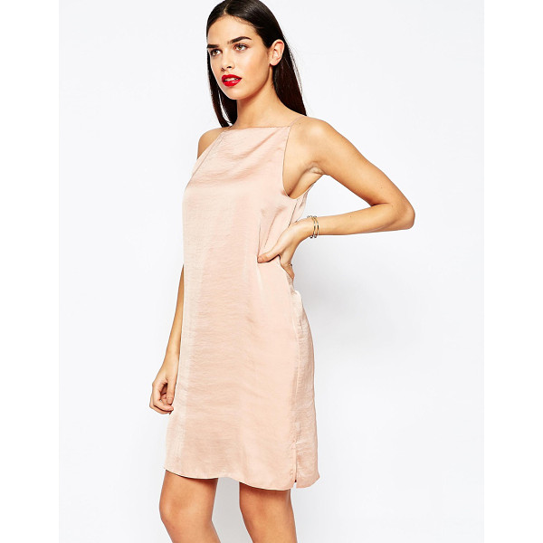 ASOS Mini cami slip dress in hammered satin - Dress by ASOS Collection, Woven satin, Square neckline,...